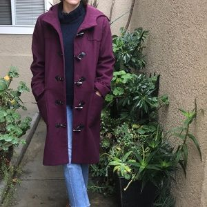 Purple Harve Benard wool coat